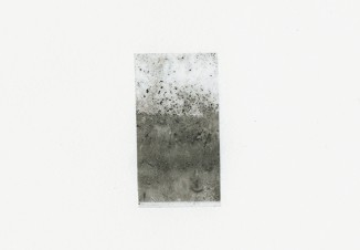 UNTITLED, 2011 – ashes, dust and sellotape on paper, 21X14