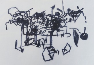 Untitled, 2009 - Marker on paper; 50 X 70 cm