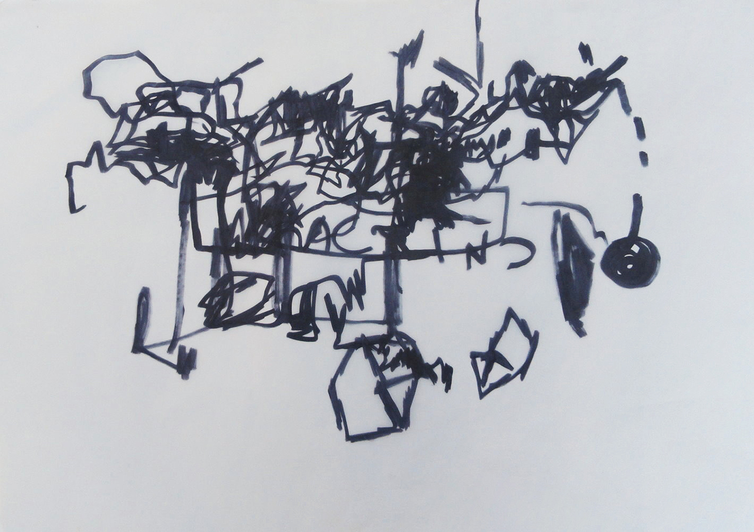 Untitled, 2008 - Marker on paper; 50 X 70 cm