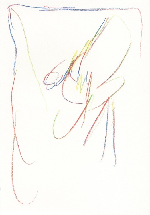 UNTITLED, 2014 - quadracolor pencil on paper, 29.7X21